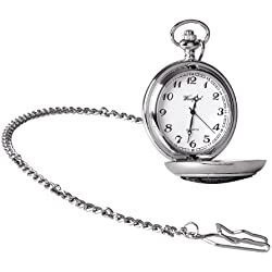 Woodford Men's Quartz Pocket Watch with White Dial Analogue Display 1955/Q