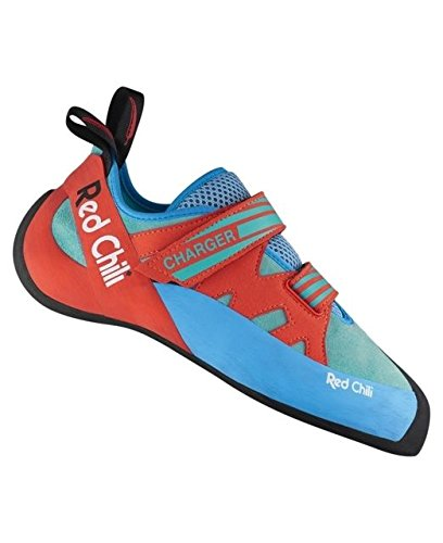 Red Chili Unisex - Erwachsene Charger Kletterschuhe, Turquoise-Orange (381), UK 9.5