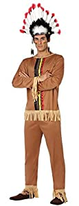 Atosa-26598 Atosa-26598-Disfraz Indio-Adulto M a L- Hombre- marrón, Color (26598)