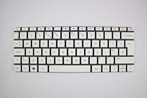 Notebook Tastatur - HP Pavilion 11-N White, QWERTY/UK Keyboard - Hp Pavilion Ersatzteile