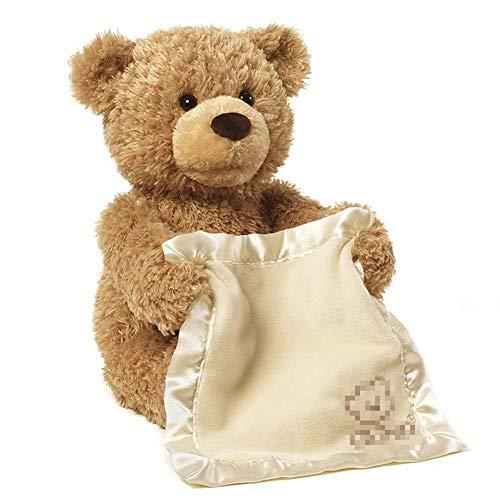(Kinder elektrische Puzzle Peekaboo Bears Plüsch Spielzeug sprechen bewegliche Teddy Puppe elektrisch weich adorable und animierte Katze Bär für Geburtstagsgeschenk)