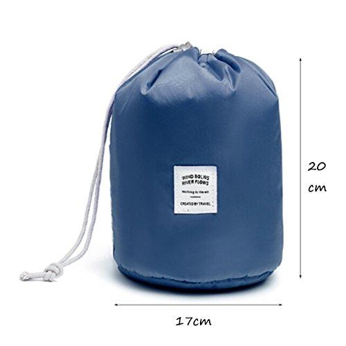 CLOTHES- Pacchetto multifunzione cilindrica di alta capacità sacchetto cosmetico di viaggio sacchetto di lavaggio sacchetto di stoccaggio ( Colore : Arancia ) Blu