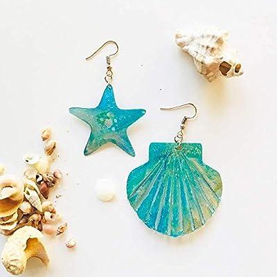 Boucles d'oreilles coquillage et étoile de mer - Bijoux nautiques - Boucles d'oreilles en coquille - Boucles d'oreilles nautiques - Boucles d'oreilles de plage - Cadeau pour elle - Boucles d'oreilles fantaisie