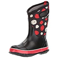 Bogs Kids Classic High Waterproof Insulated Rubber Neoprene Rain Boot Snow, Sketched Dots Print/Black/Multi, 8 M US Toddler