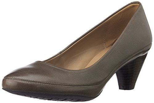 Clarks - Denny Mellow, Scarpe col tacco Donna, Taupe Leather, 41 EU