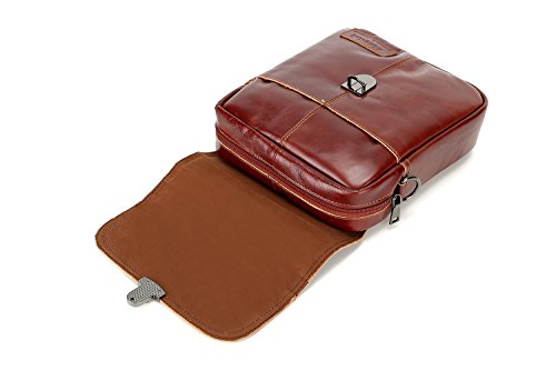 FONMOR , Borsa Messenger  Marrone brown red