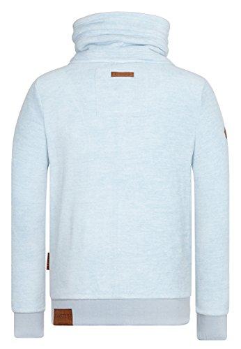 Naketano Male Zipped Jacket Der Gedudelte Heavenly Ice Melange