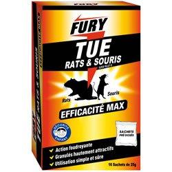 PROVEN ORAPI Fury Sachet unidose Rats/Souris, Blanc, 10 x 11 x 12 cm
