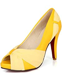LongFengMa - Zapatos de vestir de Material Sintético para mujer negro negro 1 UK, color negro, talla 38