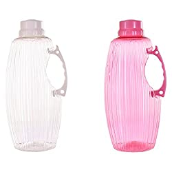 TRUENOW Ventures Pvt. Ltd. Unbreakable� Multicolor Covered Open 2 Water Bottle Set