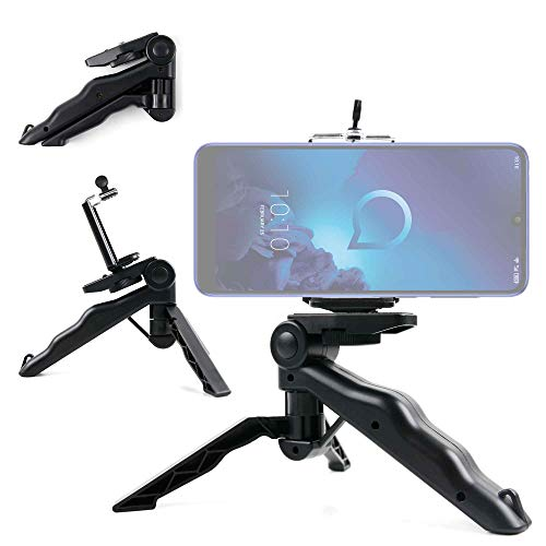 DURAGADGET Mini Trípode/Selfie Stick para Smartphone Xiaomi Mi Mix 3 5G, Nokia 9 PureView, Alcatel 3 (2019)