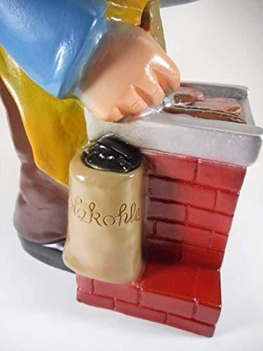Gartenzwerg Grillmeister aus bruchfestem PVC Zwerg Made in Germany Figur - 3