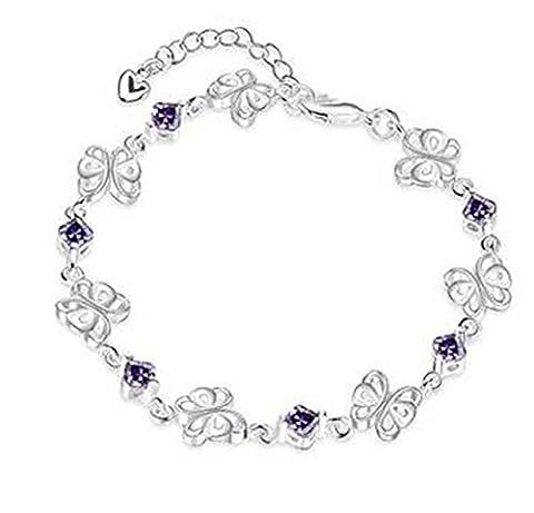Boowhol armbänder Damen Frauen Schöner Hohle Schmetterling 925er Sterling Silber mit Zirkonia armreifen
