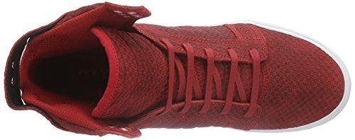 Blanco Zapatillas Skytop Mezclado Alto cardinal Supra De Adulta Coche Rojo De Deporte CPxWqww5Bd