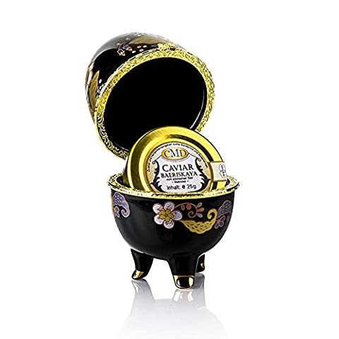 ZARIN Kaviar-Ei mit Desietra Baeriskaya Kaviar (Acipenser baerii), 25g
