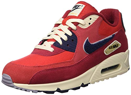 Nike Air MAX 90 Premium Se, Zapatillas de Gimnasia para Hombre, Rojo (University Red/Provence Purple 600), 42 EU
