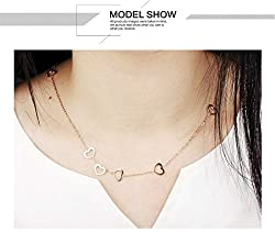 Tiffinys Jewelry Heart Clavicle Chain / Necklace / Clavicle Necklace For Women from Tiffinys Jewelry Inc