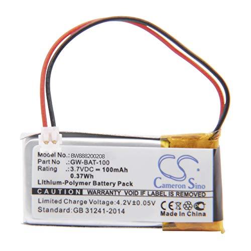 vhbw Akku passend für Vernier Go Wireless, Go Wireless pH, Go Wireless Temp Elektroden-Verstärker (100mAh, 3.7V, Li-Polymer)