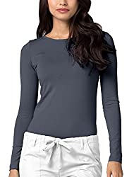 Adar Uniforms Underscrub Medical Long Sleeve Tee For Women - Color Pwr | Size: 2x