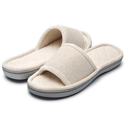 HomeTop Pantofole Donna Beige