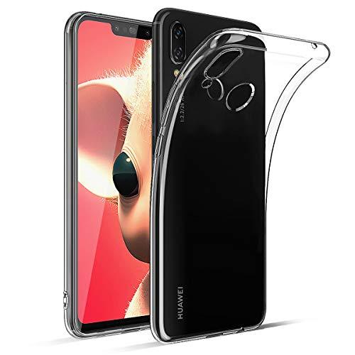 BENNALD Hülle für Huawei P Smart Plus Hülle, Clear Soft Flex Silikon Durchsichtige Schutzhülle Case Cover-Slim TPU Bumper Tasche Passgenau Handyhülle für Huawei P Smart+ 6,3 Zoll -Transparent, Clear