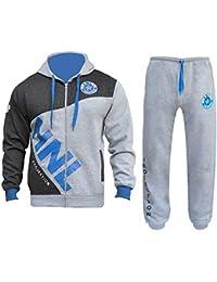 5333662728e79 Mens Tracksuit Set Hoodie Zip Up Top Bottom Sports HNL Jogging Suit Fleece  Jogger