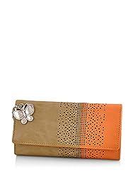 Butterflies Womens Wallet (Beige) (BNS 2391BG)