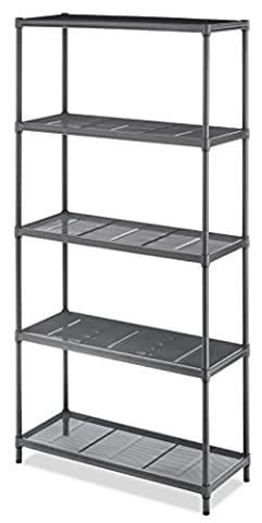 Whitmor Gunmetal 5-Tier Mesh Storage Shelf