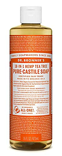 Savon Liquide Castile Soap - Arbre a thé 473 mL - Dr Bronner