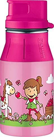 Alfi 5377162040 Trinkflasche Element Edelstahl, (0,4 Liter) rosa