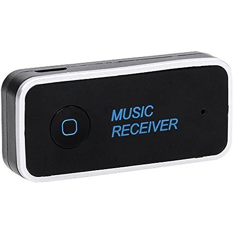 Cuitan Universal Inalámbrico Wireless Bluetooth V4.1 Audio Receptor con 3.5 mm Estéreo Entrada Construir-en el Micrófono Manos libres Llamadas Bluetooth Coche Receiver Car Kits Audio Música Adaptador para Televisión, Radio, Móvil, Tablet, Laptop, PSP,