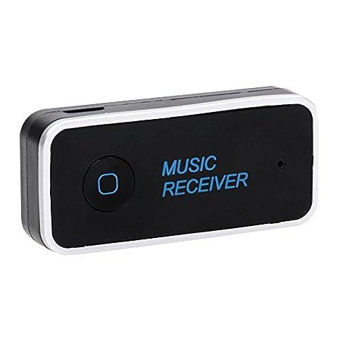Cuitan Bluetooth V4.1 Audio Empfänger, mit 3.5mm Stereo Eingang Built-in Mikrofon Handsfree Anruf Wireless Bluetooth Auto Empfänger Car Kits Audiogeräte Audio Musik Receiver Adapter für TV, Radio, Mobile, Tablet, Laptop, PSP,