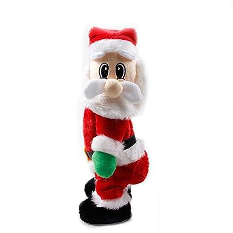 Lanlan batteriebetrieben Twerking Singen Eletric Weihnachten Santa Claus Spielzeug, perfekte Geschenk für Kinder