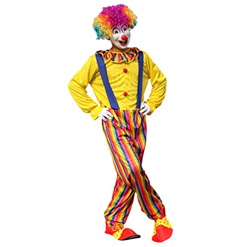 Haobing Unisex Clown-Kostüm Fasching Halloween Karneval Kostüm Cosplay Maskerade Fancy Dress (ZC-002, CN (Maskerade Fancy Dress Ideen)
