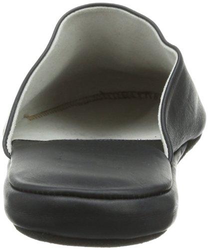Hans Herrmann Collection - Pantofole HHC, Unisex adulto Nero (Schwarz (Schwarz))