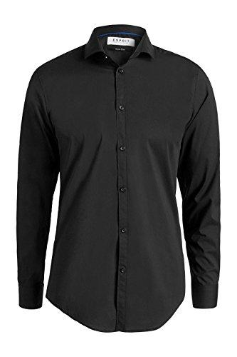 Esprit 996eo2f900-with Stretch, Shirt d'Affaires Homme Noir (black 001)