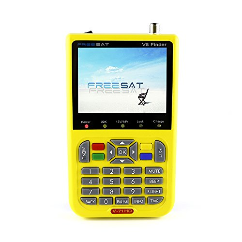 Freesat V8 Finder Digital Satellite Finder Meter 3.5'' LCD Farbdisplay HD DVB-S2 FTA LNB Satellite Signal TV Finder Tools