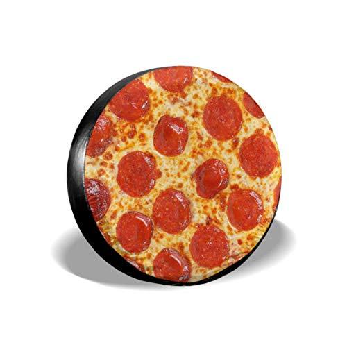 Yushg Fresh Italian Classic Original Pepperoni Pizza Bac Copertura del Pneumatico Protezione del Pneumatico Protezione del Pneumatico Copertura del Pneumatico Impermeabile UV Sun 14'- 17' Misu