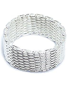 Design in Leather versilberter Ring Kollektion
