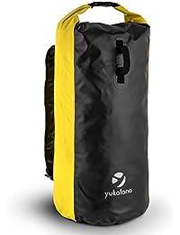 yukatana Quintona 70 • Packsack • Trekking-Rucksack • Travel-Reiserucksack • 70 Liter Stauraum • strapazierfähig • wasserdicht • Wickelverschluß • Clip-Schnalle • gepolsterte Tragegurte • Einhand-Henkel • geruchsdicht • winddicht • verschiedene Farben