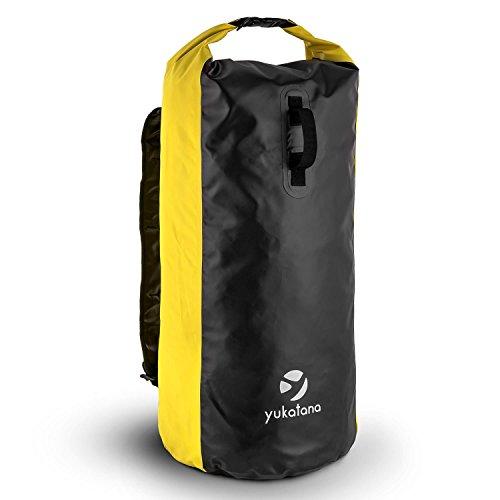 Imagen de yukatana quintona 70y  de trekking 70l capacidad, diseño resistente, estanco, cortavientos, inoloro, cierre con clip, altura regulable, bolsa deportiva ideal ropa mojada, comida, equipo, color amarillo