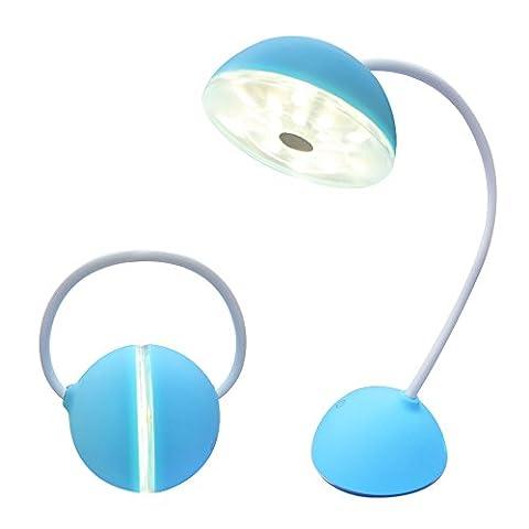 LED Schreibtischlampe Dimmbare kinder Tischlampe touch usb - port aufladen, headset stil führte tischleuchten und drei helligkeitsstufen (Blue)