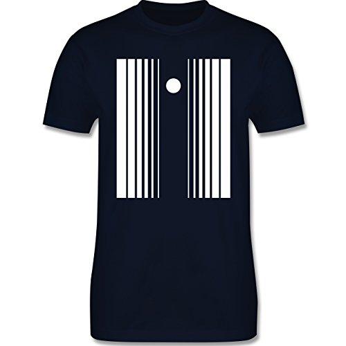 Karneval & Fasching - Doppler Effekt - M - Navy Blau - L190 - Herren T-Shirt (Effekt Kostüm Der Doppler)