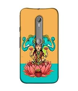 Moto X Pure Edition, Motorola Moto X Style Back Cover, Motorola Moto X Style Back Case Goddess Gaja Lakshmi Design From Printvisa