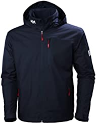 Helly Hansen Crew Hooded Midlayer Jacket Chaqueta Impermeable, Hombre, Azul (Navy), M