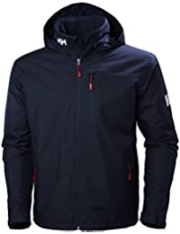 Helly Hansen Crew Hooded Midlayer Jacket Chaqueta Impermeable, Hombre, Azul (Navy), L