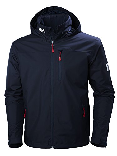 Helly Hansen Crew Hooded Midlayer - Chaqueta Impermeable, Cortavientos y Transpirable, con Forro Polar...