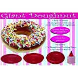 Sherwood Home 260000089 Silikon Donut-Backform mit Spritzbeutel