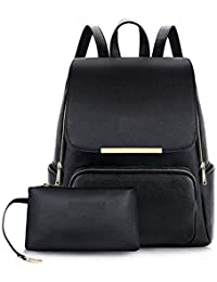 d661cb6944 Bizanne Fashion Stylish College Bag (With Pouch Inside) For Girls (Black,  BV1172