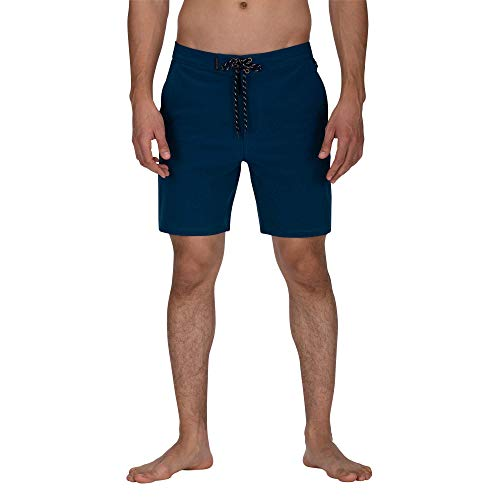 Hurley Herren M Phantom Pierbowl Beachside 18' Boardshort, Blue Force, 36